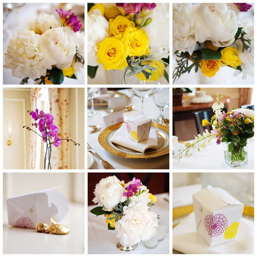 Yellow And White Flowers For Weddings: White Peony Bridal Boquet And Yellow Roses For Lucis Wedding