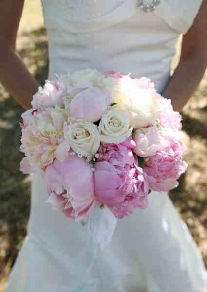 Pink Peonies Wedding Flowers For Pams Outdoor Country Wedding June