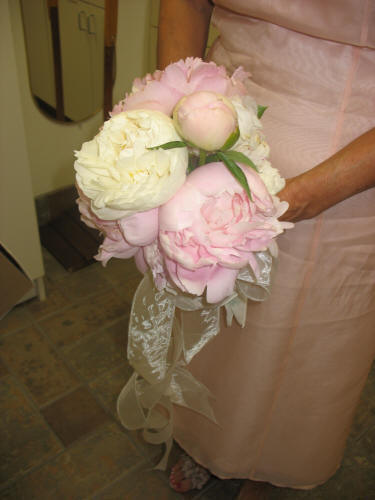 Bridal Bouquets Using Peonies : Bridal bouquet using pink peonies