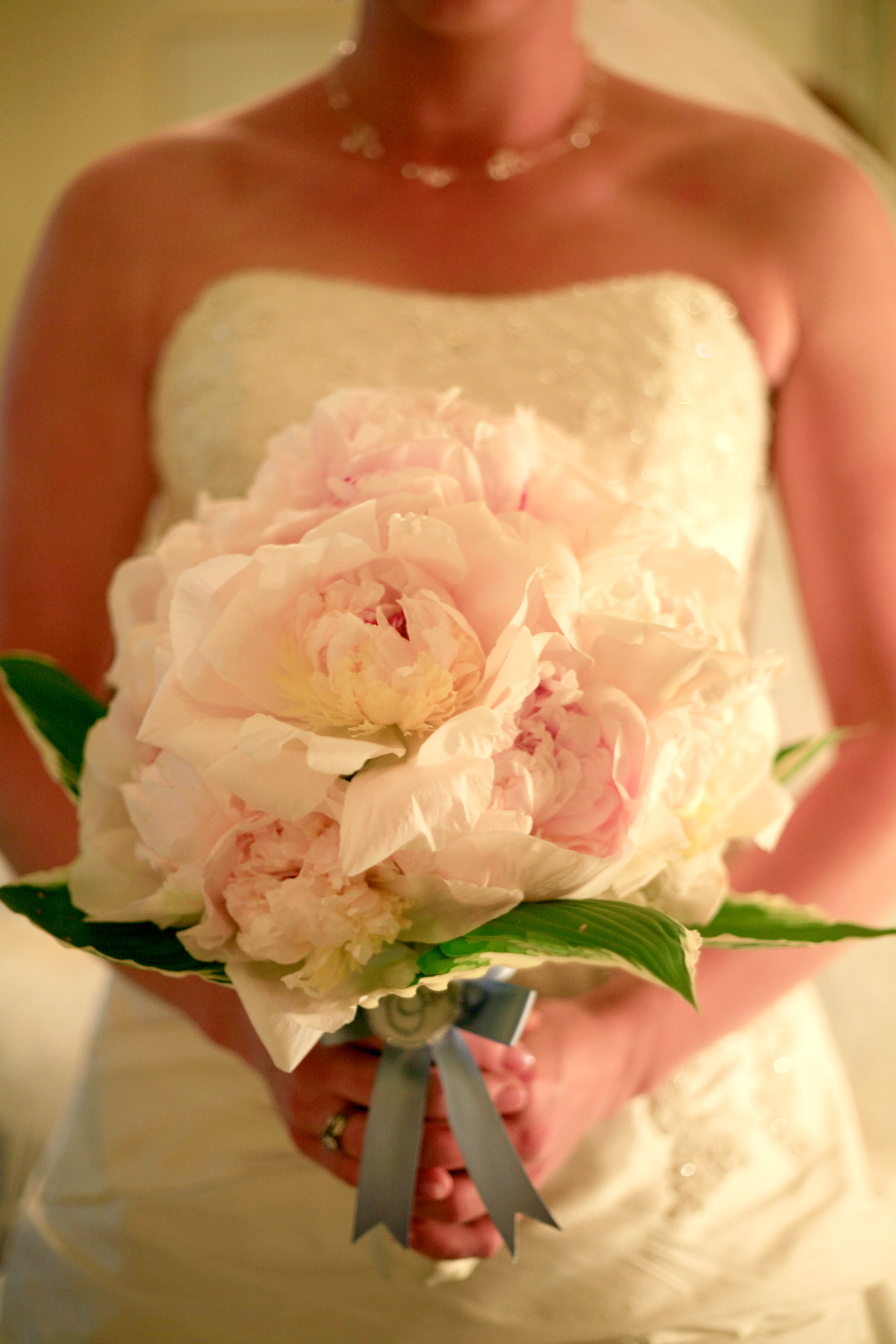 Bridal Bouquets Using Peonies : Extra large peony flower arrangement using white ann