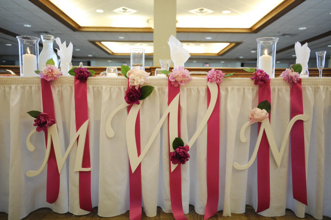 Wedding Cake Decorations Using Pink Peony Flowers