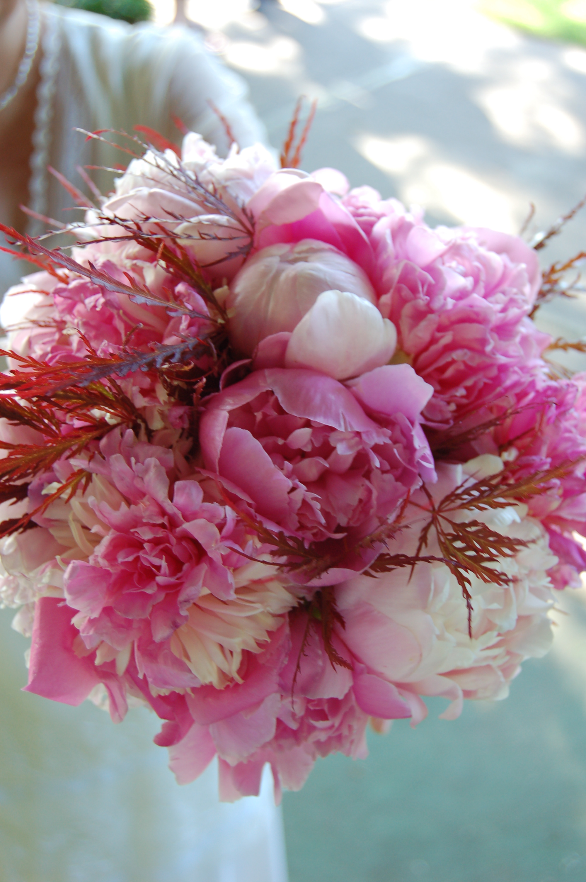 pink wedding bouquets